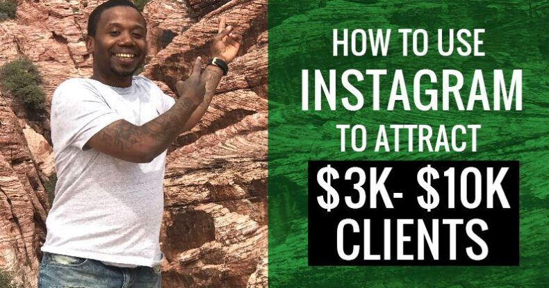 How Tao Use Instagram To Attract $3k - $10k Clients
