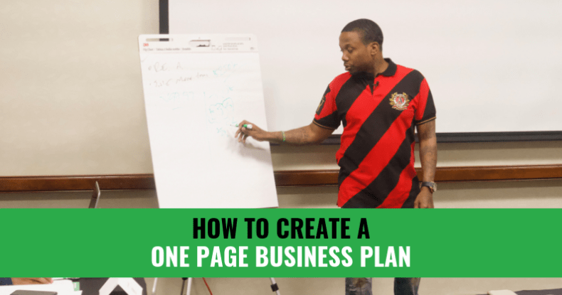 How To Create A 1-Page Business Plan